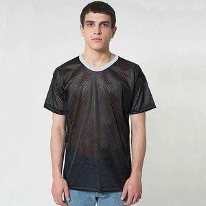 NEW American Apparel Mesh Athletic T-Shirt-Medium